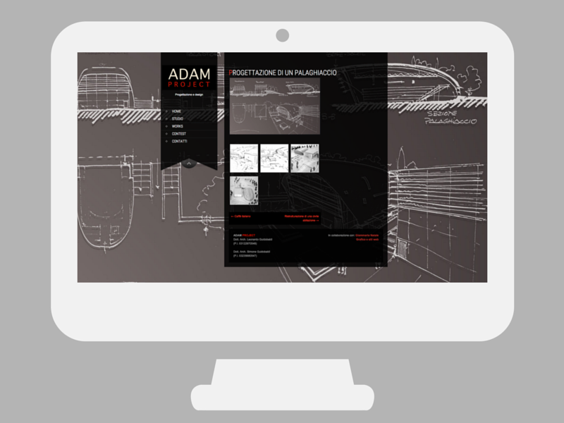 Sito web Adam Project