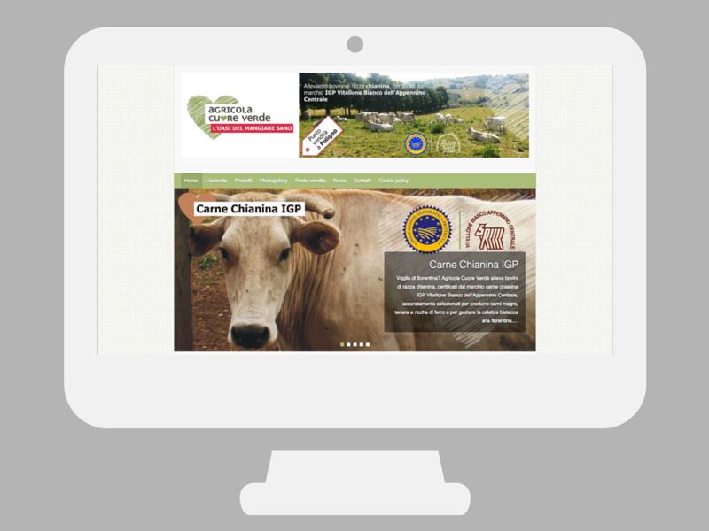 Sito web Agricola Cuore Verde