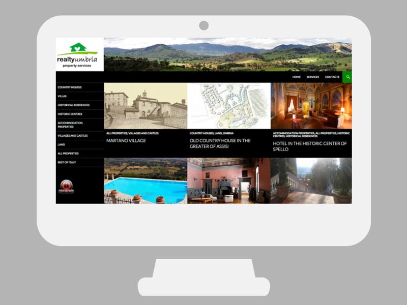 Sito web Realty Umbria
